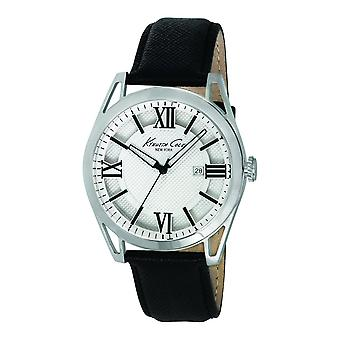 Kenneth Cole New York men's wrist watch analog quartz leather KC8072