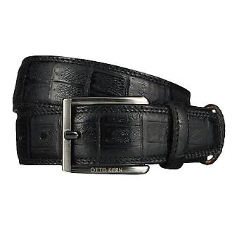 OTTO KERN belts men's belts leather belt reptile optic black 4519