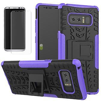 Hybrid mellom pose med 2 stykke lilla for Samsung Galaxy touch 8 N950 N950F + tank lysbildet