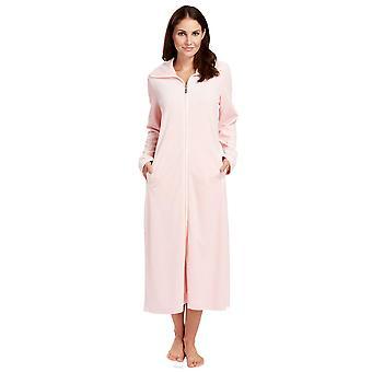Feraud 3883036-10013 Women's Peach Pink Cotton Robe Loungewear Bath Dressing Gown