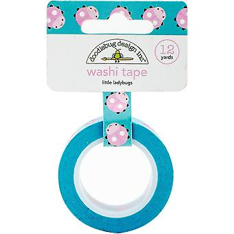 Doodlebug Washi Tape 15mm X 12yd-Little Ladybugs