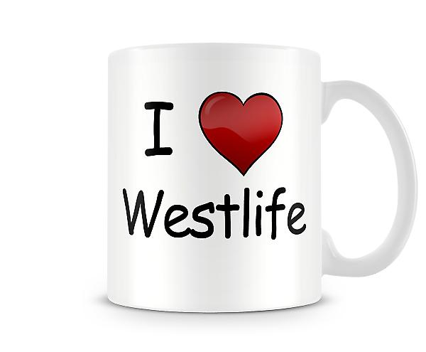 I Love Westlife Printed Mug