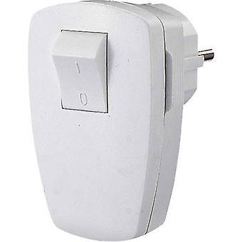 GAO EMP100SW Safety L-shape mains plug Plastic + switch 230 V White IP20