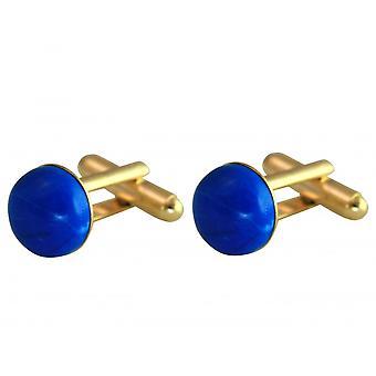 Gemshine - cufflinks - gold plated - turquoise - blue - 12 mm