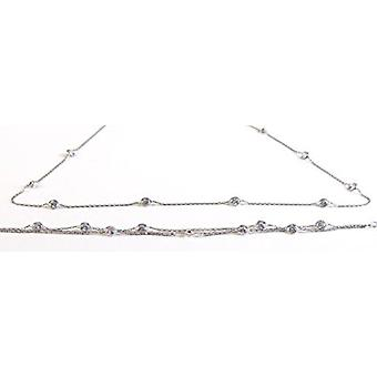 silver jewellery set, necklace and bracelet tifany style