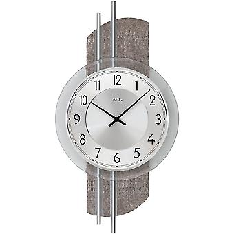 Quartz wall clock wall clock quartz design synthetic leather on wood rear wall