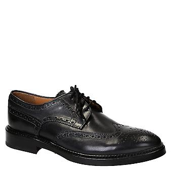 Men's handmade gray leather wingtips brogues shoes