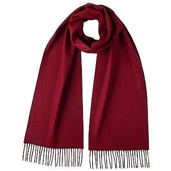 Johnstons of Elgin Plain Cashmere Scarf - Merlot Red
