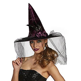 Witch Hat flower accessories Hat Carnival Halloween witch veil