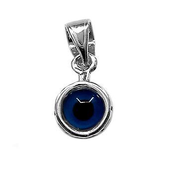 Griechische zentrale Evil Eye Anhänger Sterling Silber