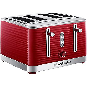 Russell Hobbs 24382 Inspire Premium Textured 4 Slice Toaster - Red