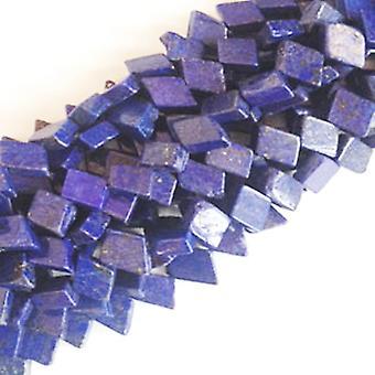 Strand 48+ Blue Lapis Lazuli 7 x 10mm-7 x 12mm Dyed Diamond Handcut Beads DW1280