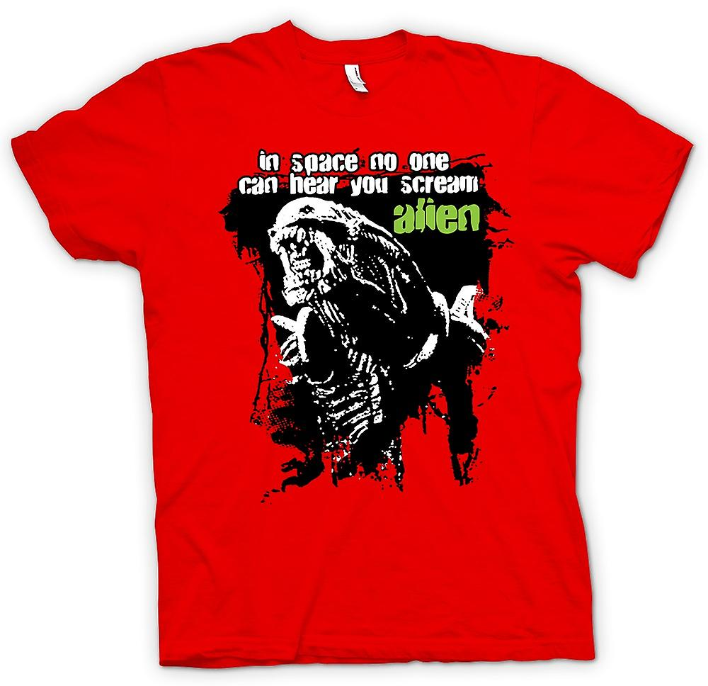 Heren T-shirt - Alien hoor je Scream - Sci Fi