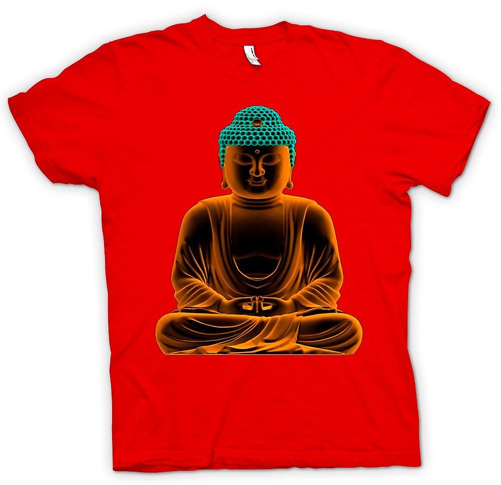 Mens t-skjorte - rolige gylne Buddha - åndelig