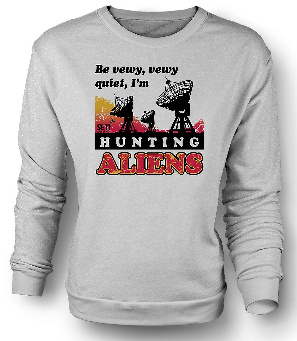 Mens Sweatshirt SETI - UFO - Alien jagers - astronomie