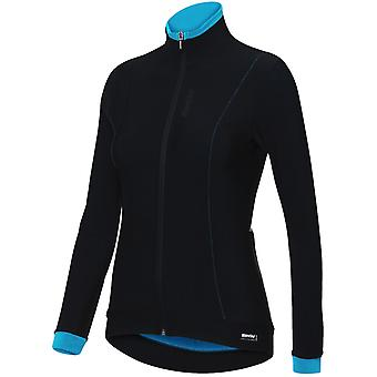 Santini Turquoise 2018 Fashion Passo Womens Long Sleeved Cycling Jersey