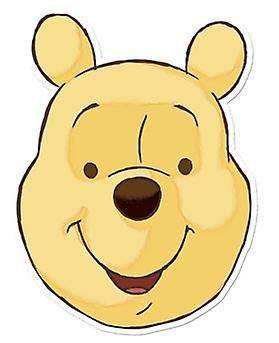 Winnie The Pooh Card Face Mask (Pooh Bear)