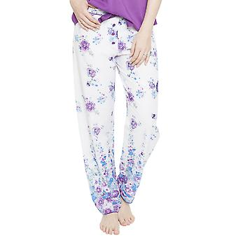 Andrea White Floral impresión pijama pantalón Cyberjammies 4095 Femenil