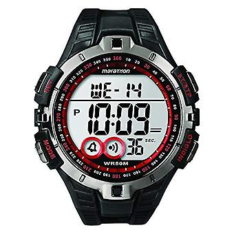 Timex T5K423 wrist watch, digital dial Unisex silicone resin, black/red