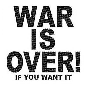 John Lennon War Is Over sew on cloth patch