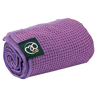 Fitness Mad Grip Dot Yoga Mat Towel - Purple
