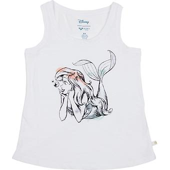 Roxy Girl x Disney Little Mermaid Ariel There is Life Tank Top - Bright White