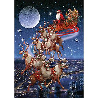 Piatnik Santa's Flying Sleigh Jigsaw Puzzle (1000 Pieces)