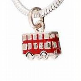 TOC Beadz rouge London Bus Dangle Slide-On charme perle