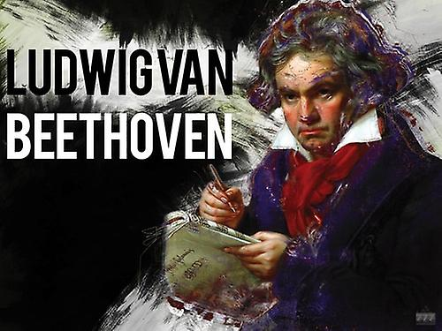 Beethoven Poster Music Wall Art Print (24x18)