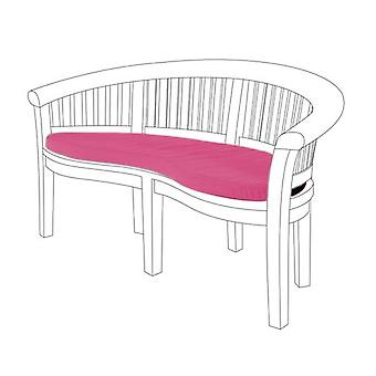 Gardenista® Pink Water Resistant Seat Pad for Curved Banana Bench