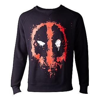 Deadpool felpa gocciolante faccia Mens maglione nero X-Large (SW000014DEA-XL)