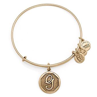 Alex en Ani initiële G Gold Bangle A13EB14GG