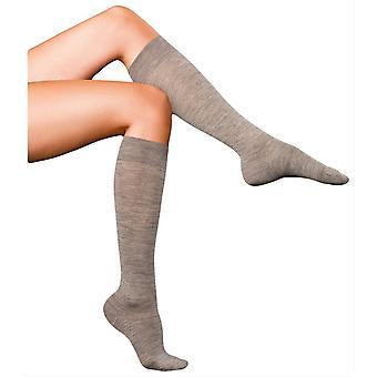 Falke meilleurs No3 Merino et soie genou chaussettes - Light Grey Melange