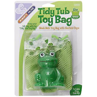 Bolsa de juguete de la bañera ordenada de la madre de la ayuda de la mamá