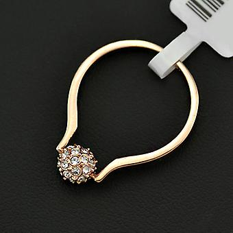 18K Yellow Gold Plated Paved Ball Ring