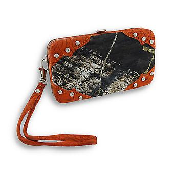 Forest Camouflage iPhone 5/5s Wallet Wristlet with Mock Croc Trim