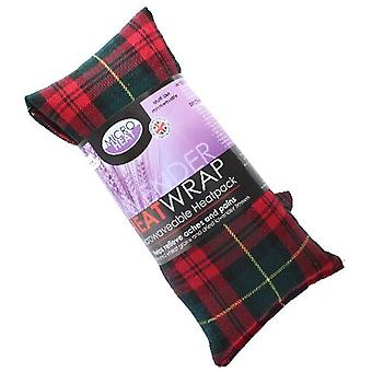 Röd tartan lavendel Heat Pack