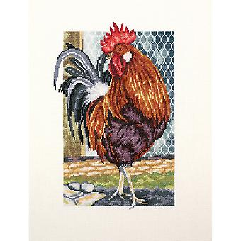 Rooster Of The Walk Counted Cross Stitch Kit-6.75