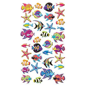 Puffy Dimensional Stickers Tropical Fish Spp1pvc 17
