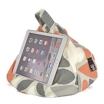 iBeani iPad, Tablet & eReader Bean Bag Stand / Cushion - Oval Orange