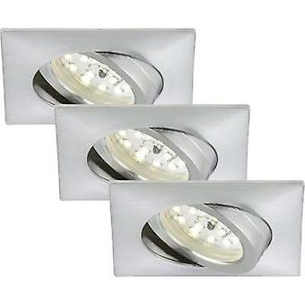 LED flush mount light 3-piece set 15 W Warm white Briloner 7210-039 Aluminium