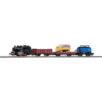 Piko H0 57111 H0 Hobby Start-Set Steam Locomotive with Freight train