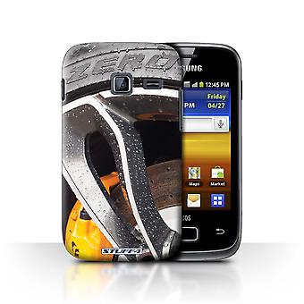 STUFF4 Case/Cover for Samsung Galaxy Y Duos/S6102/Chrome/Yellow/Alloy Wheels