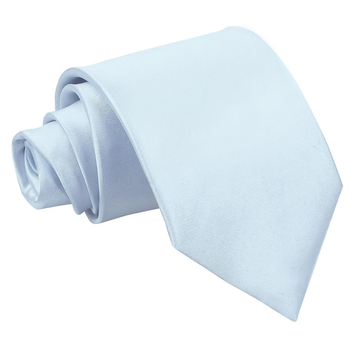 Baby Blue Plain Satin Extra Long Tie