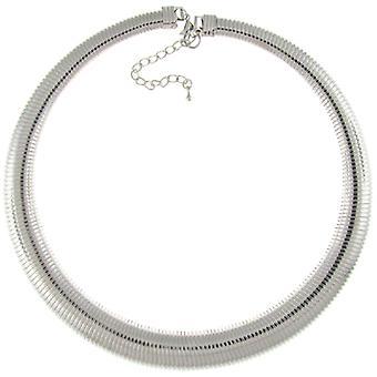 Mode Flexi Silber Schlange Choker Halsband Halskette