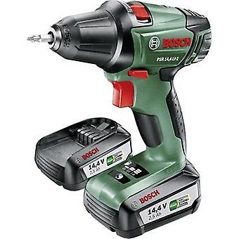 Bosch Home and Garden PSR 14,4 LI-2 Cordless drill 14.4 V 2.5 Ah Li-ion incl. spare battery, incl. case