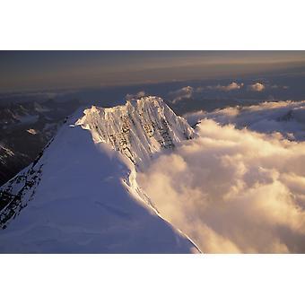 Aerial Of Grand Parapet Mtn Wrangell-St Elias Np Sc Ak Summer PosterPrint