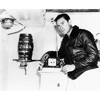 Impressão de fotos de bordo de 1940 de Errol Flynn