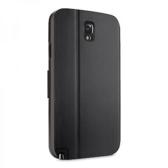 Belkin F8M684B1 Wallet genuine leather Folio Case Cover Black for Samsung N9005 Galaxy Note 3