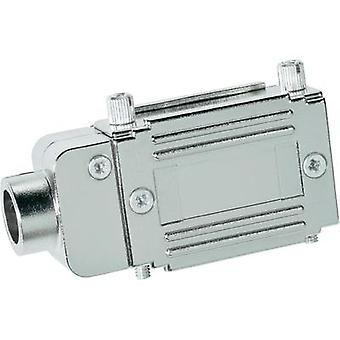 D-SUB adapter housing Number of pins: 37 Plastic, metallised 90 ° Silver Provertha 77372M 1 pc(s)